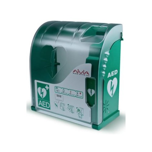 Aivia 200 Defibrillator Wall Cabinet with Alarm and Heating