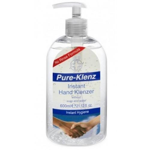 Hand Sanitising Gel 600ml with pump dispenser 70% alcohol