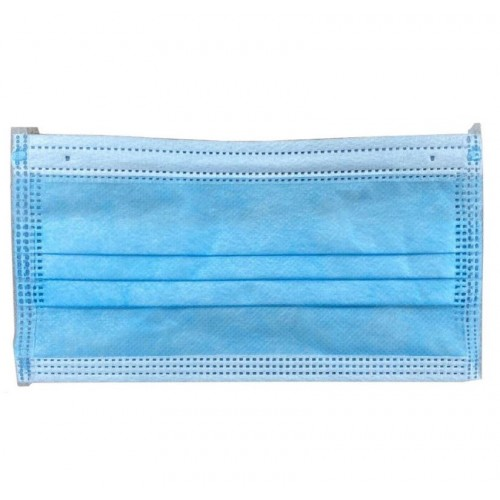 Type IIR Disposable Mask 3 Ply Fluid Resistant Blue Pack 50