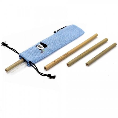 Reusable Bamboo Straws Selection - Aquamarine