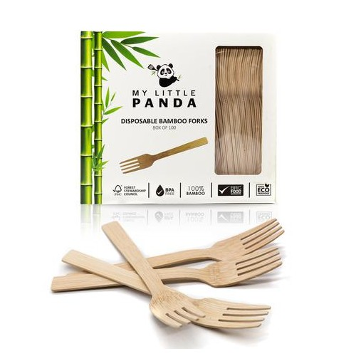 My Little Panda Disposable Bamboo Forks