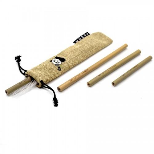 Reusable Bamboo Straws Selection - Desert Sand