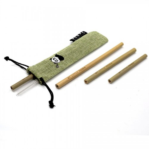 Reusable Bamboo Straws Selection - Forest Green