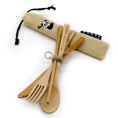Compact Bamboo Cutlery Set - Sun Dust