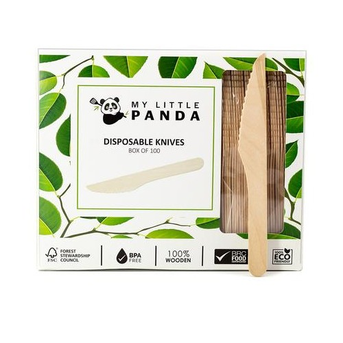 My Little Panda Disposable Wooden Knives