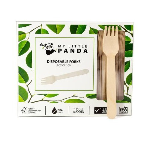 My Little Panda Disposable Wooden Forks