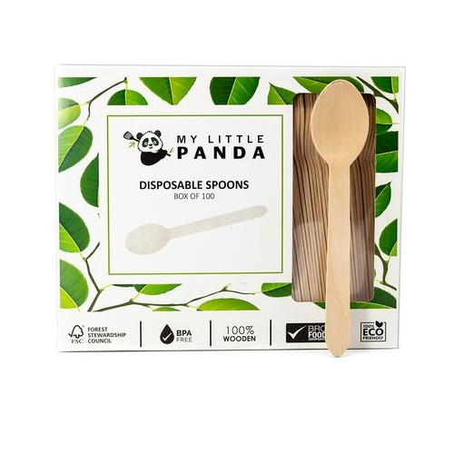 My Little Panda Disposable Wooden Spoons