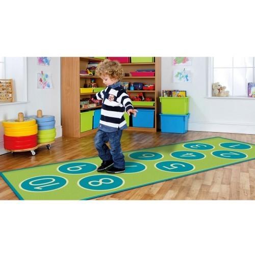 School Decorative Hopscotch Carpet 3x1m Heavy Duty Tuf-pile & Anti-skid Safety Backing