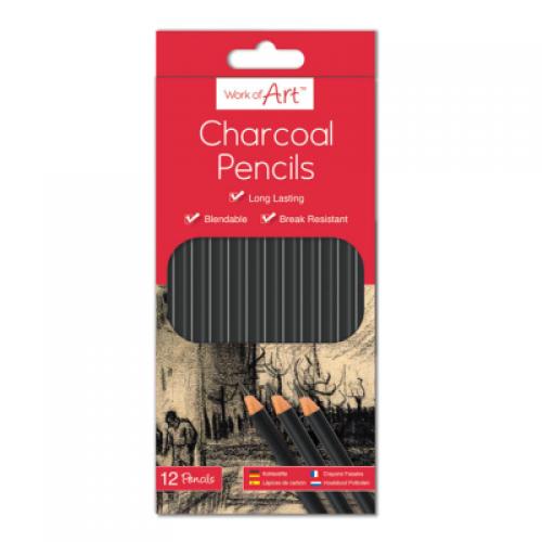 School Charcoal Pencils [Pack 12]