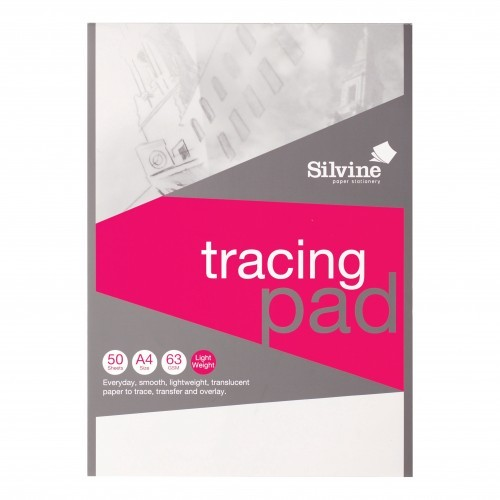 School Tracing Paper Pad High Quality A4 63gsm 50 Sheets [Pack 1]