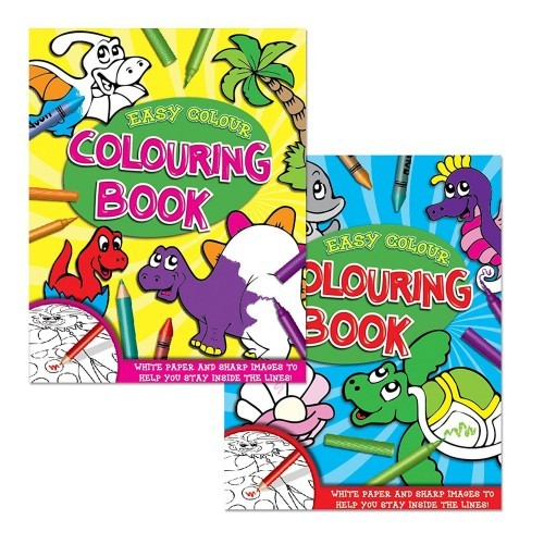 School Colouring Book Large Images Bright Paper A4 96 Pages [Pack 1]