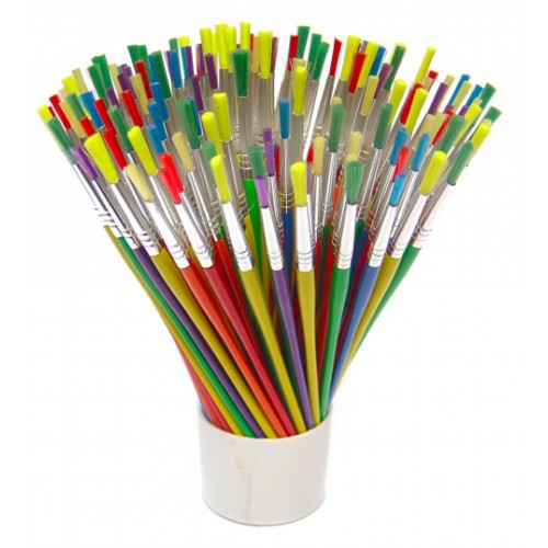 School Paint Brushes Assorted Sizes [Pack 144]