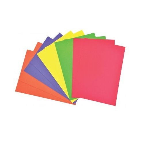 School Card A4 Assorted 200gsm 100 Sheets [Pack 1]