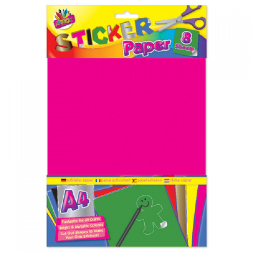 School Make Your Own Stickers A4 Assorted 8 Sheets [Pack 1]