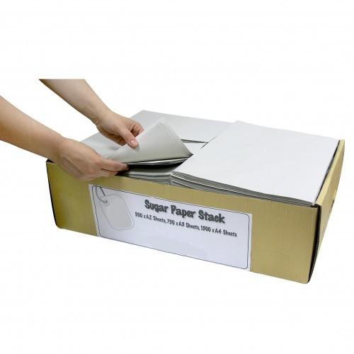 School Sugar Paper Stacks - White Only - 1500 x A4 / 750 x A3 / 500 x A2 [Pack 1]