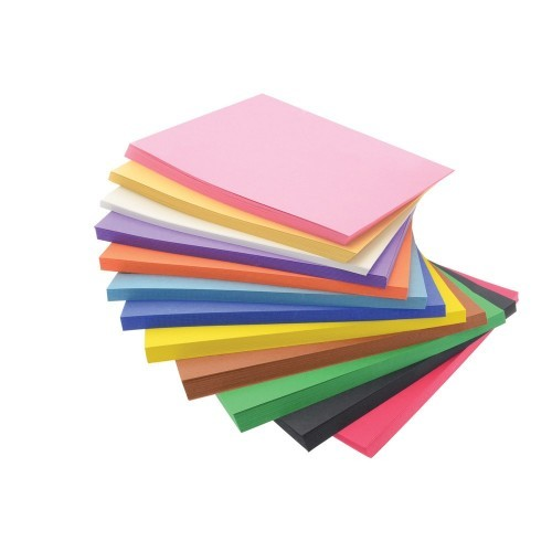 School Construction Paper Stacks - 648 Sheets x A4+ 228x305mm (12 colours, 54 Sheets of Each) [Pack 1]