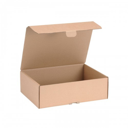 School Craft Shoe Box Hinged Lid Easy Self-assembly 325mm(w) x 240mm(d) x 105mm(h) [Pack 20]