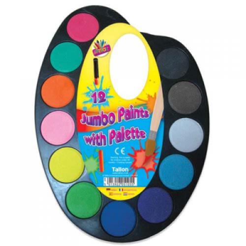 School Paint 12 Colours Jumbo Palette [Pack 1]