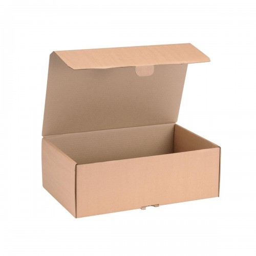School Craft Shoe Box Hinged Lid Easy Self-assembly 395mm(w) x 255mm(d) x 140mm(h) [Pack 20]