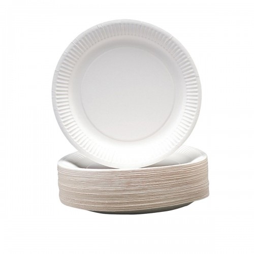 School Paper Plates 230mm Diameter Disposable [Pack 100]
