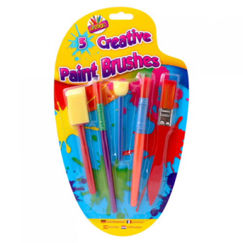 School Creative Brush Set Assorted Pack 5 [Pack 1]