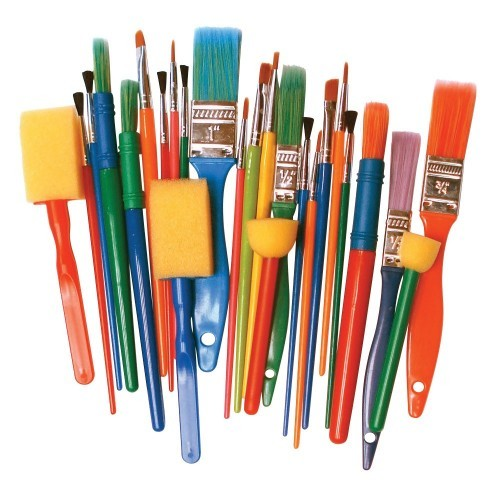 School Creative Brush Set Assorted Pack 25 [Pack 1]