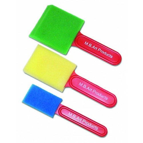 School Foam Brushes Assorted [Pack 3]