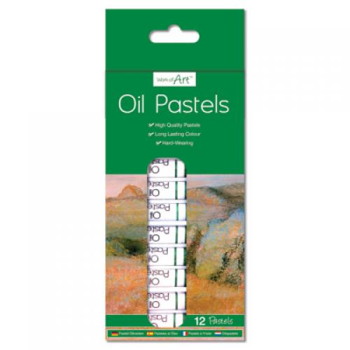 School Oil Pastels Assorted [Pack 12]