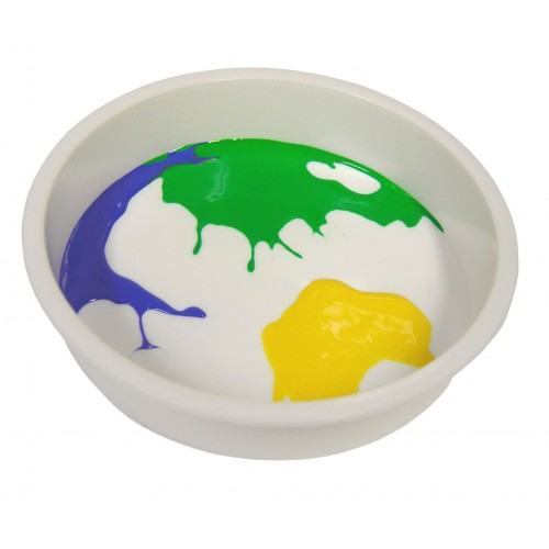 School Plastic Paint Saucer 110x20mm [Pack 10]