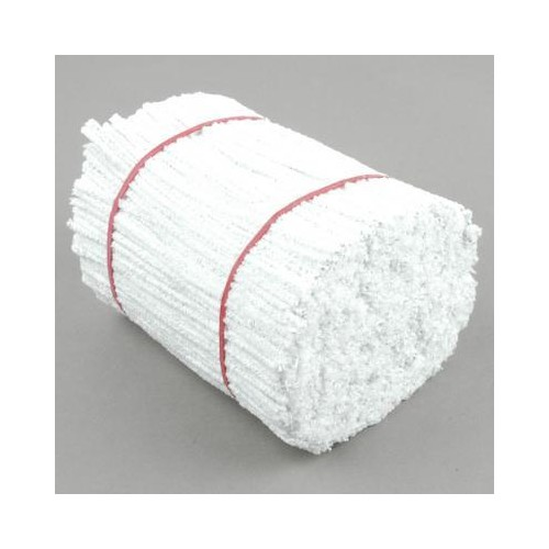 School Chenille Craft Stems / Pipe Cleaner Stems 150mm White [Pack 1000]