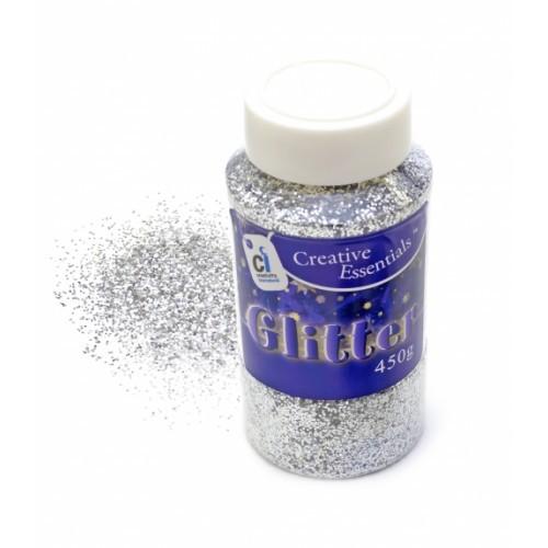 School Glitter Silver 450g [Pack 1]
