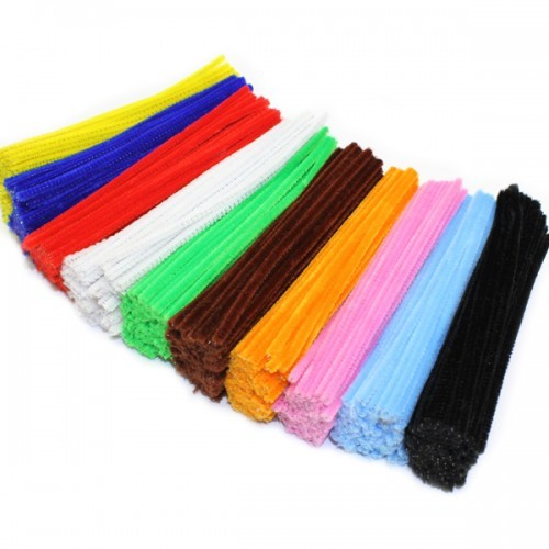 School Chenille Craft Stems / Pipe Cleaner Stems 150mm Assorted Colours [Pack 1000]