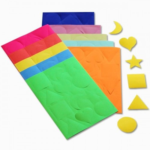 School Gummed Paper Shapes Assorted [Pack 300]