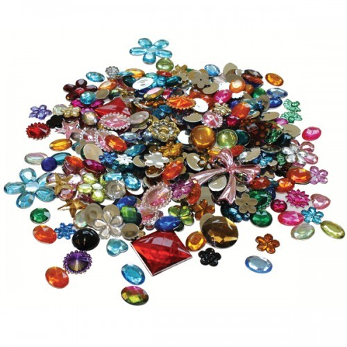 School Acrylic Jewels & Gemstones Assorted 454g [Pack 1]