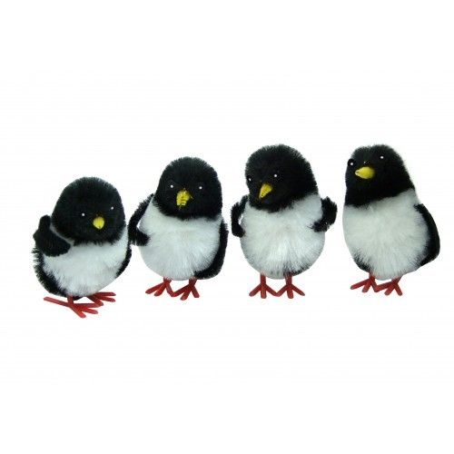 School Miniature Fluffy Penguins [Pack 4]