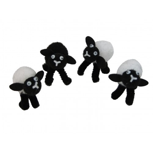 School Miniature Fluffy Lambs [Pack 4]