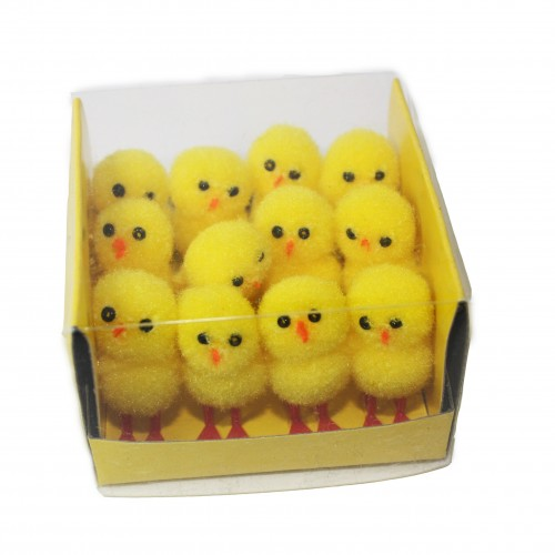 School Miniature Fluffy Chicks [Pack 12]