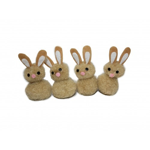 School Miniature Fluffy Bunnies [Pack 4]