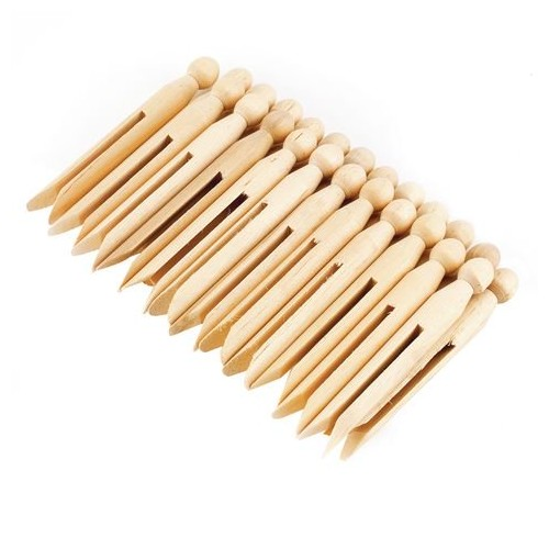School Natural Craft Dolly Pegs [Pack 24]