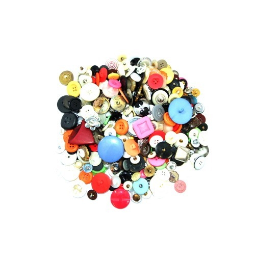 School Craft Buttons Assorted 500g [Pack 1]
