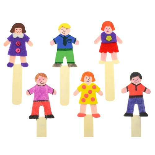 School People Shaped Craft Sticks [Pack 36]