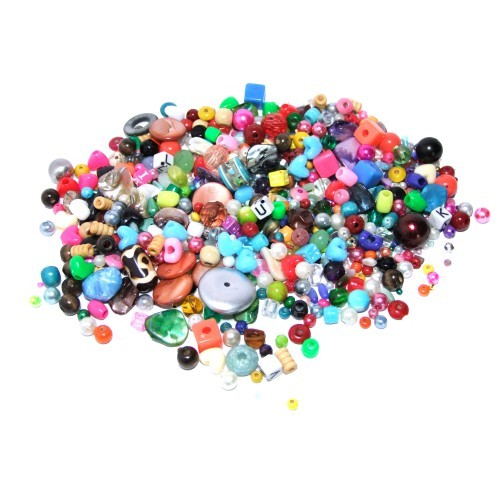 School Acrylic Beads Assorted 100g [Pack 1]