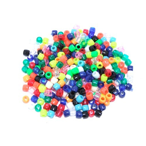 School Barrel Beads Assorted 100g [Pack 1]
