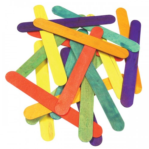School Coloured Craft Lolly Sticks Jumbo 165x20mm [Pack 100]