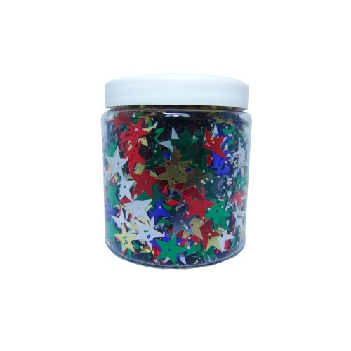 School Star Sequins Assorted 90g [Pack 1]