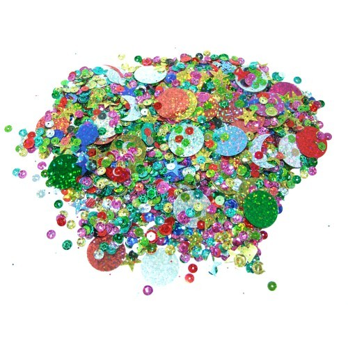School Holographic Sequins Assorted 100g [Pack 1]