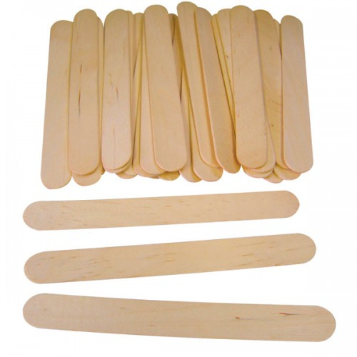 School Natural Craft Lolly Sticks Jumbo 165x20mm [Pack 100]