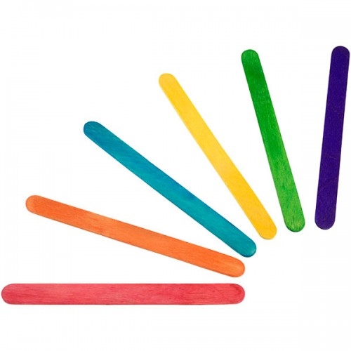 School Coloured Craft Lolly Sticks 108x10mm [Pack 250]