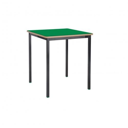 School Table Square 600x600mm Fully Welded Frame MDF Bullnose Edge