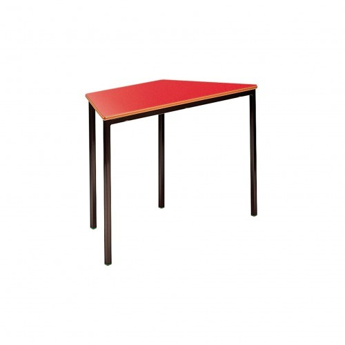 School Table Trapezoidal 1200x600mm Fully Welded Frame MDF Bullnose Edge